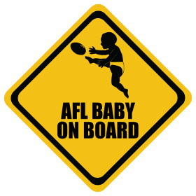AFL baby on board sticker