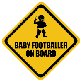 American Football baby on board sticker