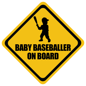 Baseball baby on board sticker