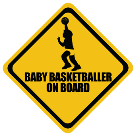 Basketball baby on board sticker