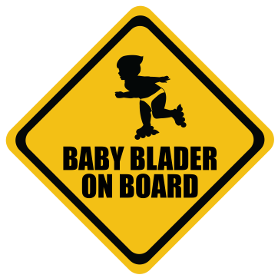 Roller Blades baby on board sticker