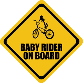 BMX baby on board sticker