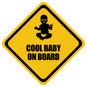 Cool baby on board sticker