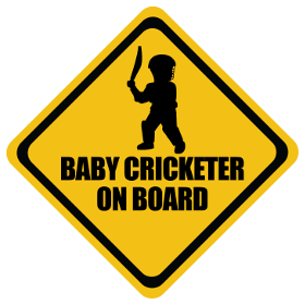 Cricket baby on board sticker