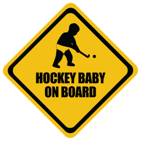 Field Hockey baby on board sticker