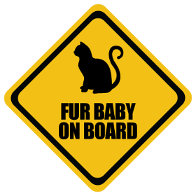 Cat Fur Baby baby on board sticker