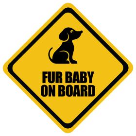 Dog Fur Baby baby on board sticker