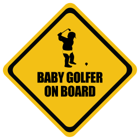 Golf baby on board sticker