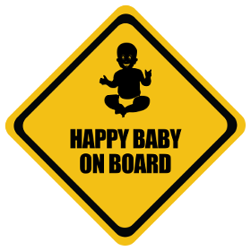 Happy baby on board sticker