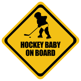 Ice Hockey baby on board sticker