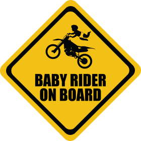 Moto Cross baby on board sticker