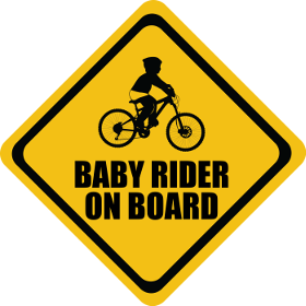 Mountain Bike baby on board sticker