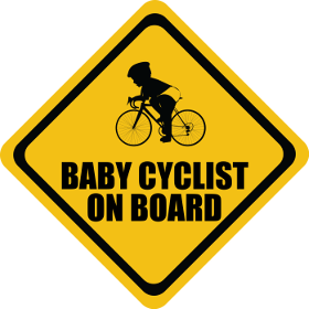 Road Bike baby on board sticker