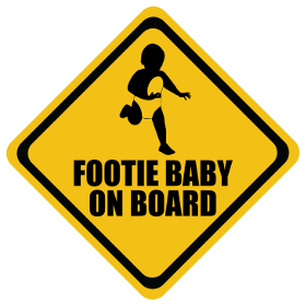 Rugby League baby on board sticker
