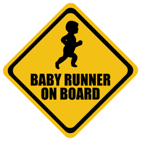 Runner baby on board sticker