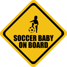 Soccer baby on board sticker