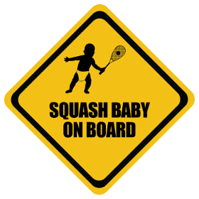 Squash baby on board sticker