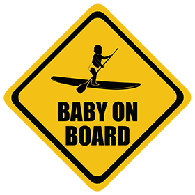 Standup Paddleboard baby on board sticker