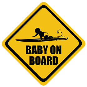 Surfing (Long Board) baby on board sticker