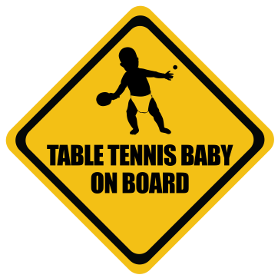 Table Tennis baby on board sticker