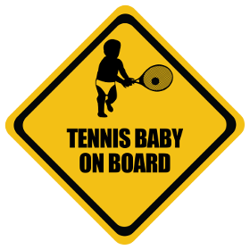 Tennis baby on board sticker