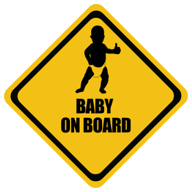 Thumbs Up baby on board sticker