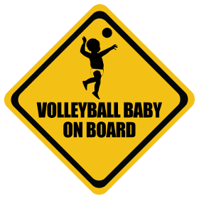 Volley Ball baby on board sticker
